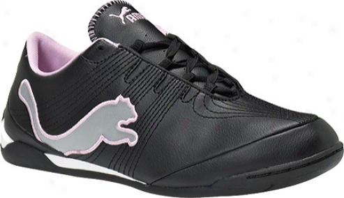 Puma Etoile Cat Jr (boys') - Black/limestone Grey/pink Laady