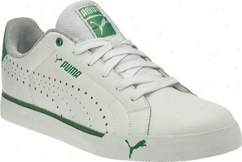Puma Game Point (men's) - White/juniper
