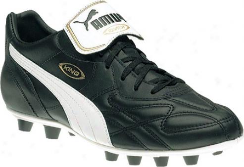 Puma King Top Di Fg (men's) - Black/white/gold