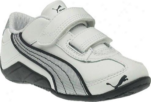 Puma Millennius Ballistic V (infants') - White/puma Silver/team Charcoal