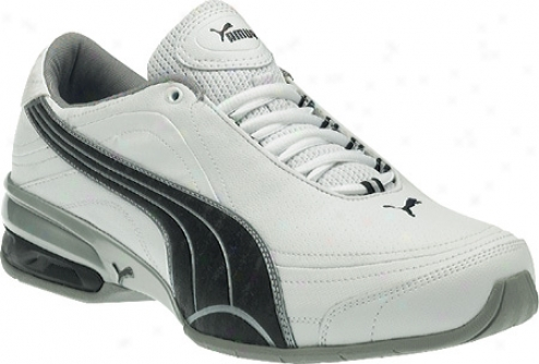 Puma Tazon 4 (men's) - White/black/puma Silver