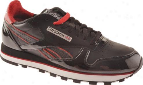 Reebok Cl Leather Se (men's) - Black/flash Red/white