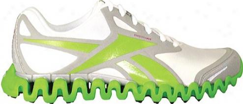 Reebok Premier Zigfly Se (women'q) - Silver/white/sushi Green/overtly Pink