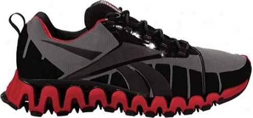 Reebok Premie Zugwild Tr (men's) - Carbon/rivet Grey/black/exfellent Red