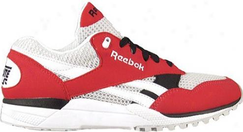 Reebok Racer X (women's) - Redtastic/steel/white/black