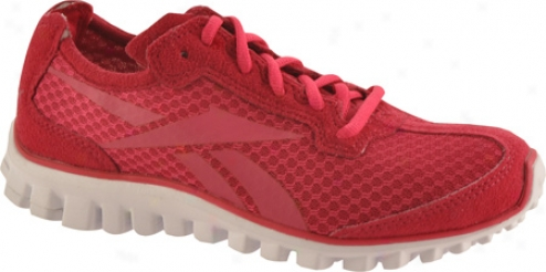 Reebok Realflex Run Mesh (woemn's) - Uberberry/overtly Pink/white