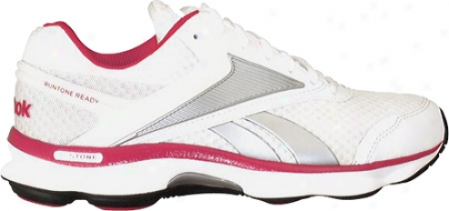 Reebok Runtone Ready (women's) - White/pure Silver/8berbrry/steel/black