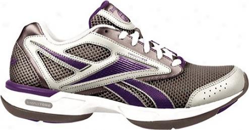 Reebok Simplytone Walk (women's) - Pewter/pure Silver/action Purple/steel/white