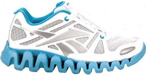 Reebok Zigdyanmic Elite (women's) - White/pure Silver/feather Blue