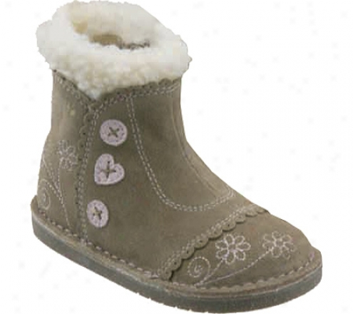 Robeez 1st Stepz Button-up Bootie (infant Girls') - Taupe