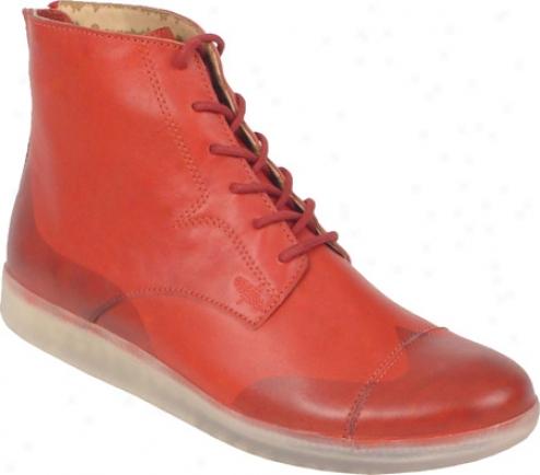 Rockadelic Sir Duke (men's) - Red Smooth Leather