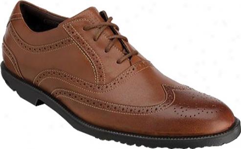 Rockport Dressports Tw Wingtip (men's) - Dark Tan Full Grain Leather