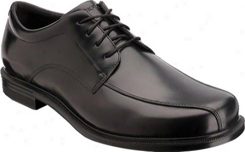 Rockport Editorial Offices Bikr Front Wp (men's) - Black Waterproof Full Grain Leather