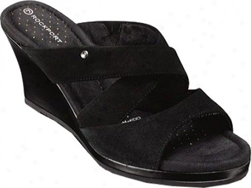 Rockport Emily Three Band (women's) - Black Suede