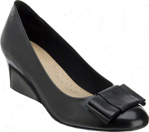 Rockport Grace Flat Bow Pump (women's) - Black Nappa