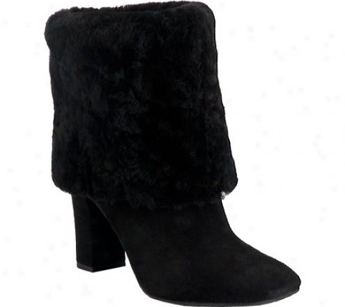 Rockport Helena Cuffde Bootie (women's) - Black Suede/shearling