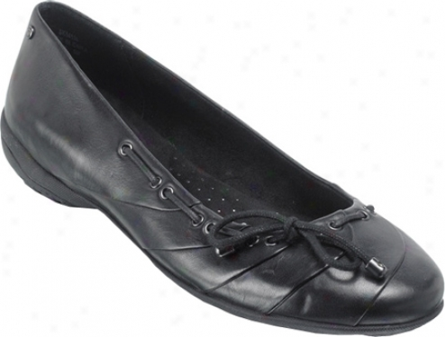 Rockport Laura Ballerina Bow (women's) - Black Full Grain Leather