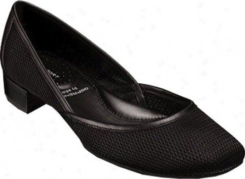 Rockport Lilly A-line Slip On (women's) - Black Leather/mesh
