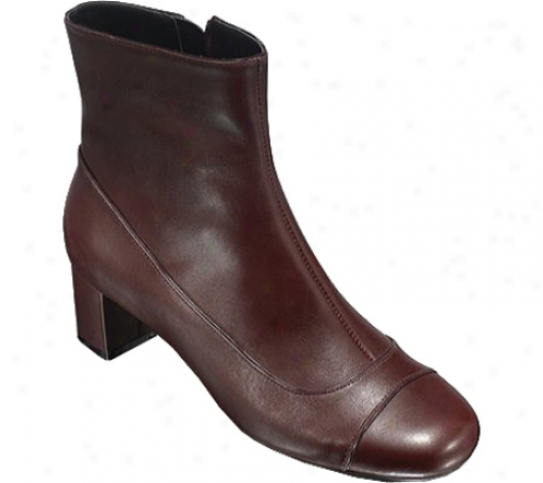 Rockport Mary Cap Toe Bootie (women's) - Merlot Smooth Leather