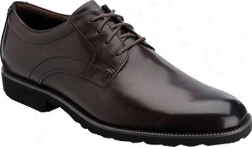 Rockport Oak Circle Plain Toe (men's) - Dark Brown Full Grain Leather