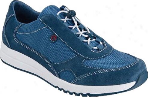 Rockport Zana Bungie Sneaker (women's) - Suiting Navy Suede/vintage Blue Mesh