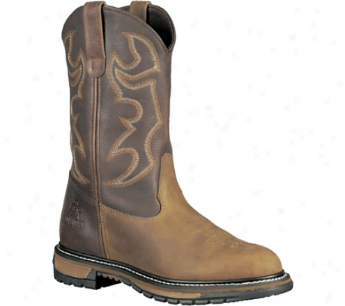 """rocky 11"""" Branson Roper 6732 (men's) - Aztec Crazy Horse/bridle Brown Leather"""