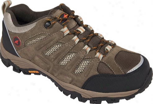 Rugged Shark Expedition Low (men's) - Taupe/black/orange Leather