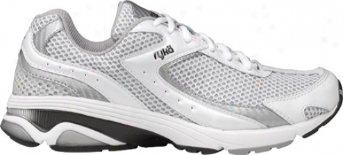 Ryka Radiant (womrn's) - White/chrome Silver/black