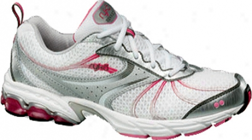 Ryka Revive 2 (women's) - Chrome Silver/white/metallic Steel Grey/pink Flash