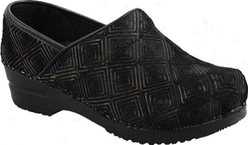 Sanita Clogs Prof. Gfaphic Closed (women's) - Blac