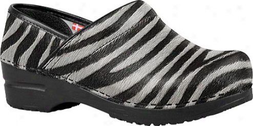 Sanita Clogs Professional Timber (women's) - Zebra