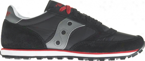 Saucony Jazz Low Pro (women's - Black/dark Gray/red