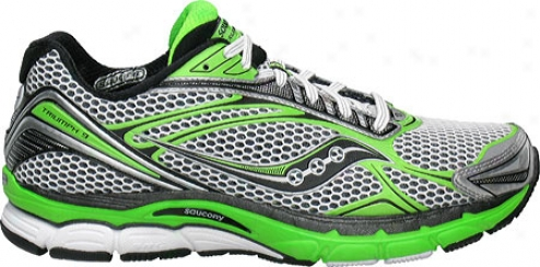Saucony Powergrid Conquest 9 (men's) - White/slime Green
