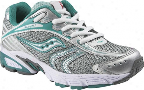 Saucony Triumph 7 Run For Good (girls') - Teal/silver/turquoise Leather/mesh