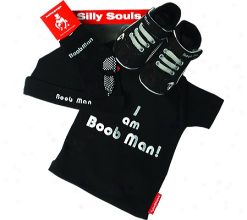 Silly Souls Boob Man 4-piev3 Fix (infant Boys') - Black/white