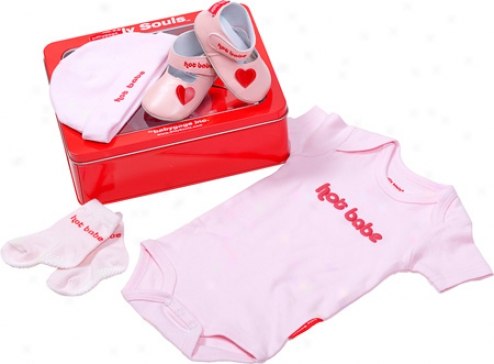 Silly Souls Hot Babe 4-piece Gift Set (infant Girls') - Pink