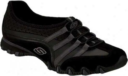 Skechers Bikers Point Blank (women's) - Black/charcoal