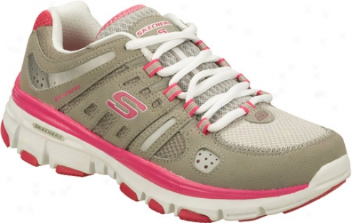 Skechers Bravos Photo Finish (women's) - Gray/pinj