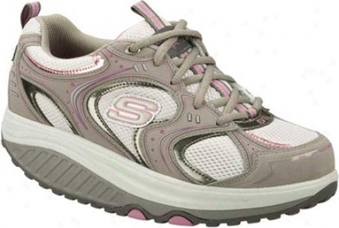 Skechers Shape Ups Action Packed (women's) - Gray/pink