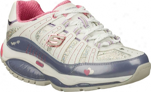 Skechers Shape Ups Atomics K W T Trainer (girls') - White/lavender/pink