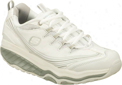 Skechers Shape Ups Evolution Pursuit (women's) - White/silver