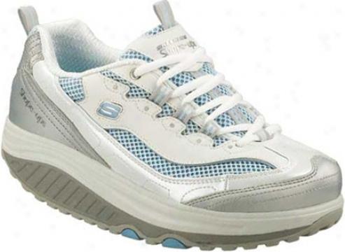 Skechers Shape Ups Jump Arise (women's) - White/silver/light Blue