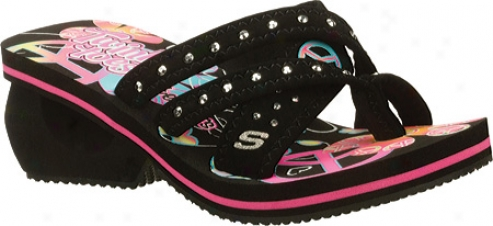 Skechers Spinners Silly Lillies (girls') - Black/multi/neon