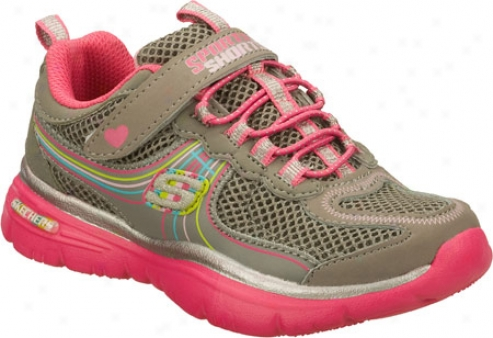Skechers Sporty Shorty Lite Sprints Hoveers (girls') - Gray/pink