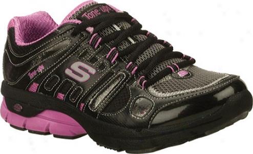 Skechers Tone Ups Fitness Flow (women's) - Black/pink