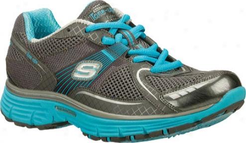 Skechers Tone Ups Fitness Ready Set (women's) - Charcoal/aqua