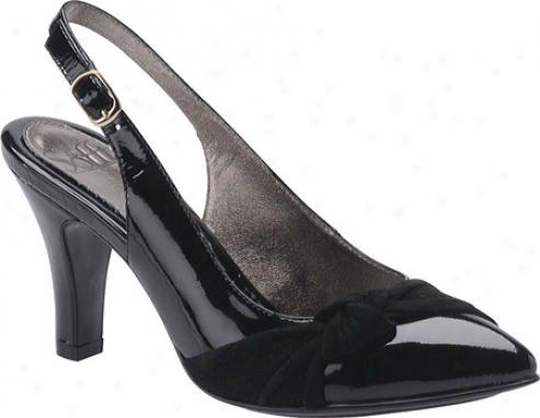 Sofft Apulia (women's) - Black Patent/suede