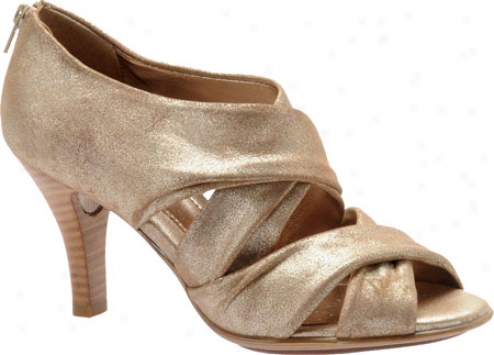 Sofft Geneva 2 (women's) - Champagne Foil Suede
