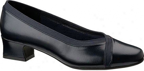 Soft Style Devine (women's) - Navy Smooth/faille