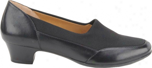 Softspots Santina (women's) - Black Leather/suede
